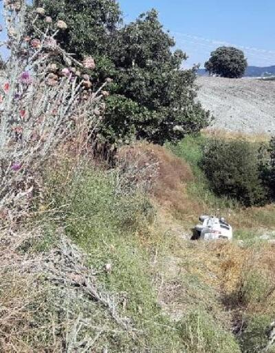 Belediye aracı yamaçtan yuvarlandı: 4 yaralı