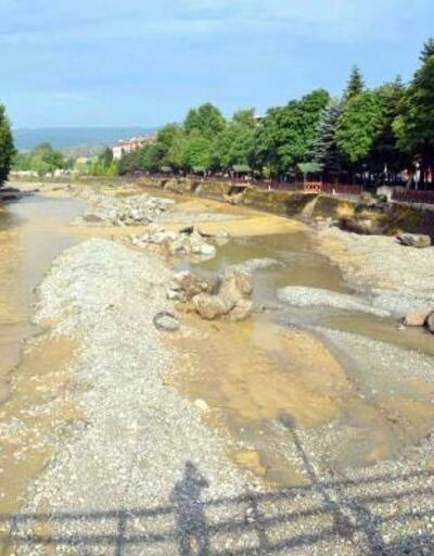 Kastamonu'da sağanak hayatı olumsuz etkiledi, 8 büyükbaş sele kapıldı