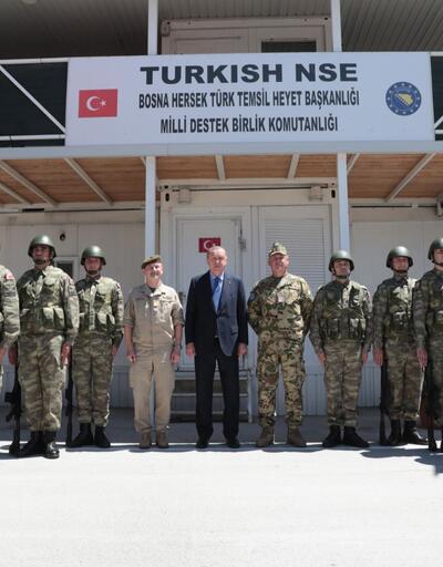 Erdoğan, Bosna'da 'Barış Gücü'nde görevli Türk askerleri ziyaret etti
