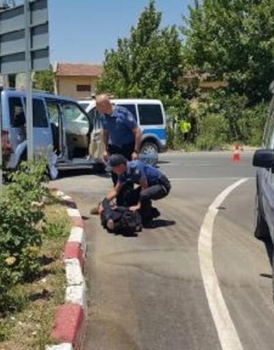 Çalıntı araçla kaçan hırsızlar, kovalamacayla yakalandı