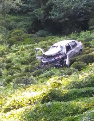 Otomobil çay bahçesine uçtu: 1 ölü, 2 yaralı
