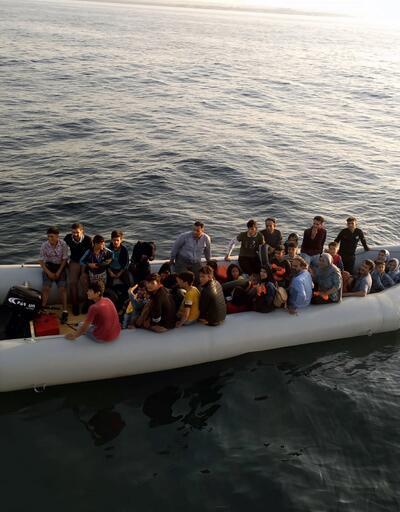 Didim'de bir gecede 73 göçmen yakalandı