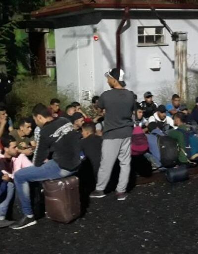 Kaçak göçmenler trende yakalandı