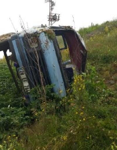 Giresun'da minibüs şarampole devrildi: 7 yaralı