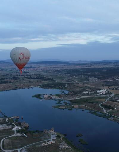 Tarihi vadi Frigya'da ilk sıcak hava balonu havalandı