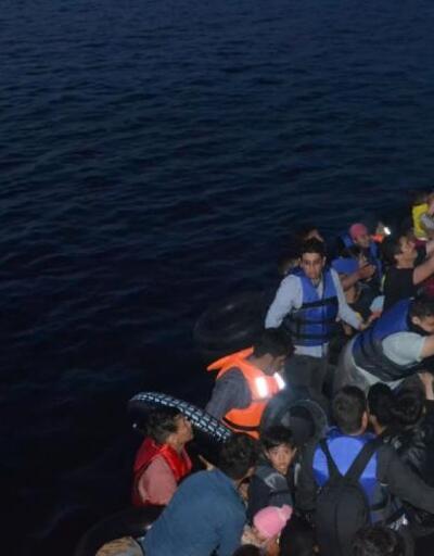 Ayvalık'ta 40kaçak göçmen yakalandı