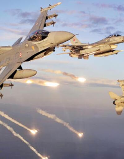 Jetler sınır ötesindeki terör yuvalarını dağıtıyor