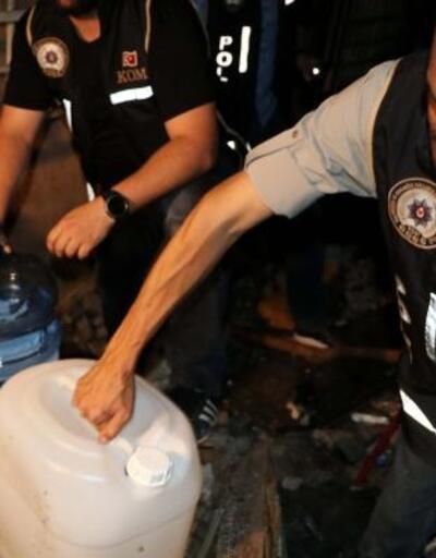 Ankara'da sahte içki operasyonu