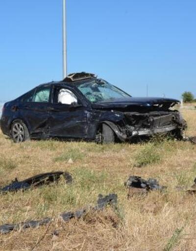 Çanakkale'de iki otomobil çarpıştı: 8 yaralı