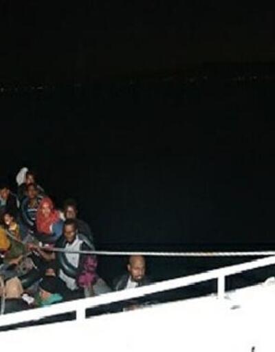 Dikili'de 42 kaçak göçmen yakalandı