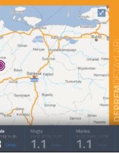 Çanakkale'de 3.8 büyüklüğünde deprem