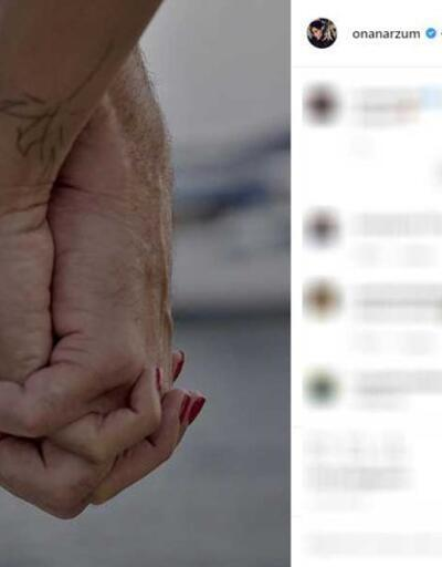Arzum Onan-Mehmet Aslantuğ çiftinden romantik paylaşım