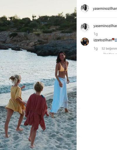 Yasemin Özilhan'dan tatil paylaşımı