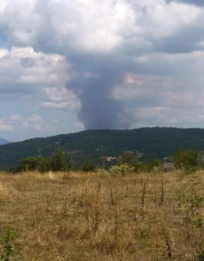 Boyabat'taki orman yangını 2 saatte söndürüldü