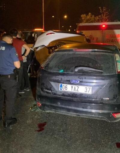 Takla atan otomobil bir aracın üstüne düştü: Biri ağır, 2 yaralı