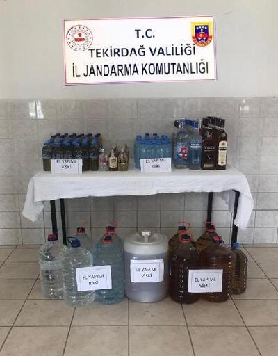 Çorlu'da kaçak içki operasyonu