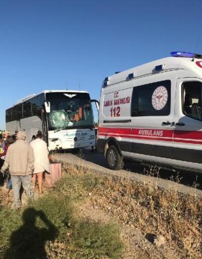 Tur otobüsü bariyerlere çarptı: 5 yaralı