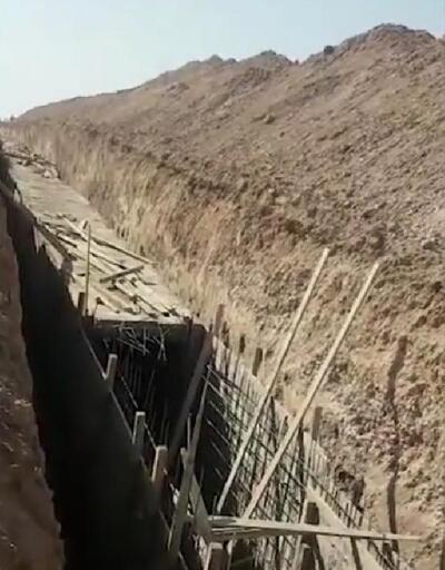 Teröristlerin Resulayn'daki tünel ve siper kazıları devam ediyor