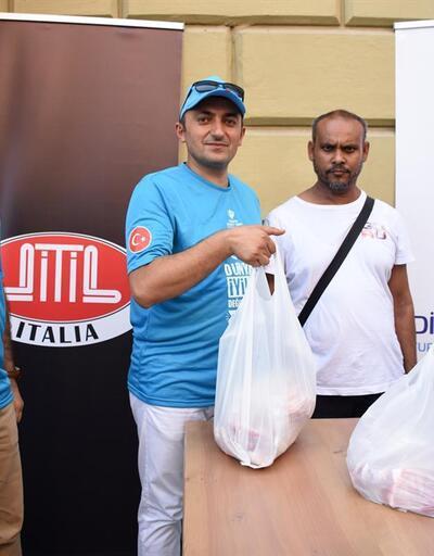 Cengiz Ünder'in kurban bağışı Roma'da dağıtıldı