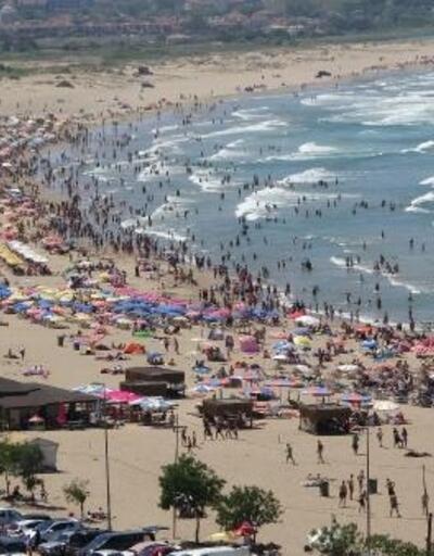 Bayramda Şile plajları doldu