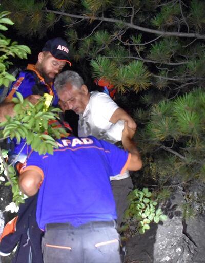 """Uludağ'da yaralanan arkadaşına yapraklardan """"yorgan"""" yapmış"""