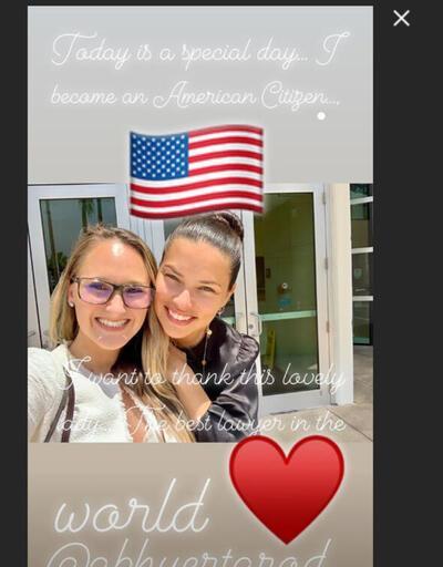 Adriana'nın mutlu günü: Türk sevgilisine böyle mesaj gönderdi