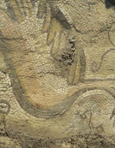 Bizans dönemine ait mozaiği çiftçiler buldu