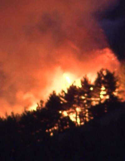 Orman yangınında ilk kez gece uçuşu yapıldı
