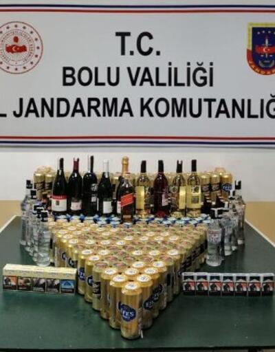 Mengen'de bandrolsüz içki operasyonu