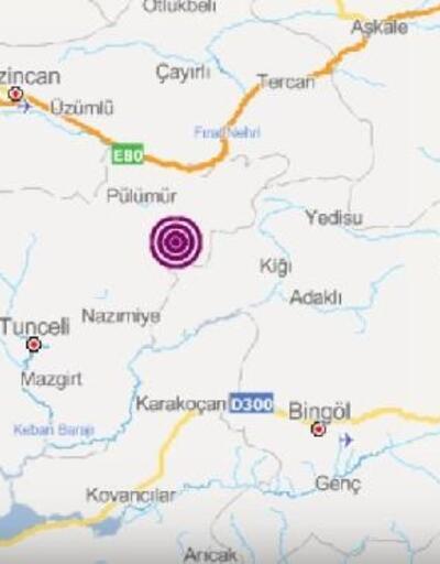 Pülümür'de 3.9 büyüklüğünde deprem