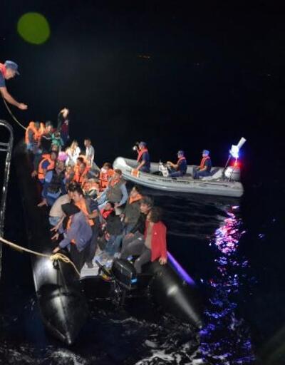 Edirne'de lastik botlarda 68 kaçak göçmen yakalandı