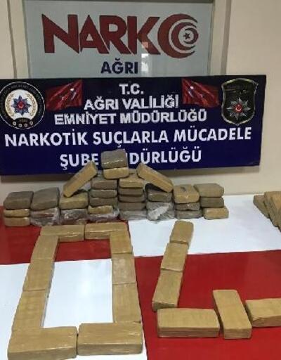 Ağrı'da 35 kilo eroin ele geçirildi