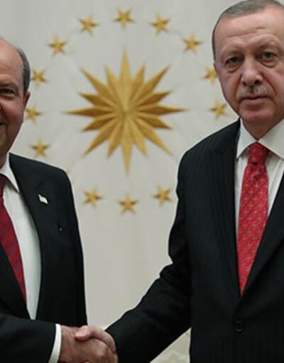 Cumhurbaşkanı Erdoğan, KKTC Başbakanı'nı kabul etti