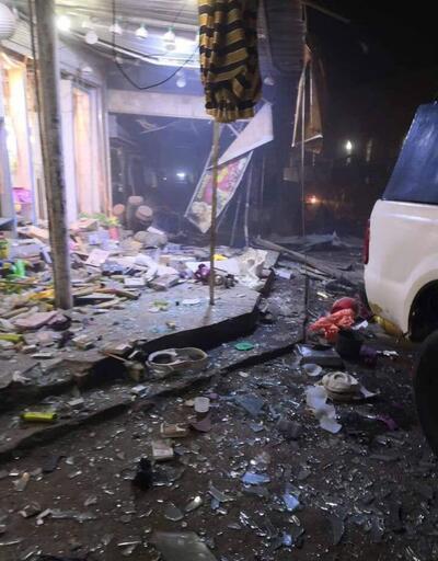 Komşuda pazar yerine bombalı saldırı