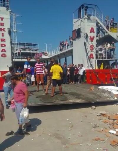 Feribot iskeleye çarptı: 4'ü çocuk 7 yaralı