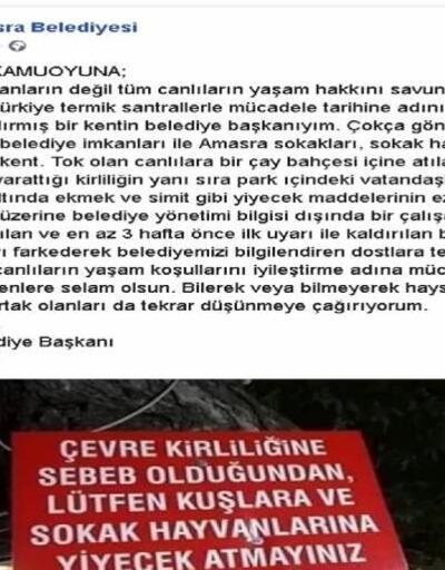 Amasra Belediyesinden 'tabela' açıklaması