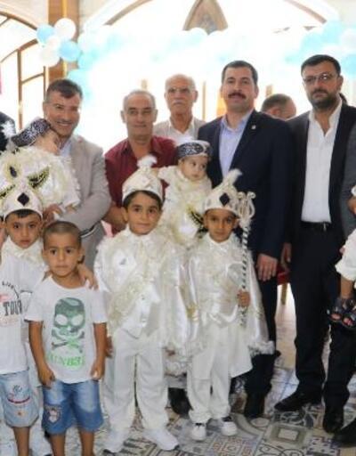 Şanlıurfa'da 112 çocuk için sünnet şöleni düzelendi