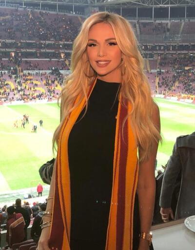 Victoria Lopyreva Galatasaray maçı için geldi