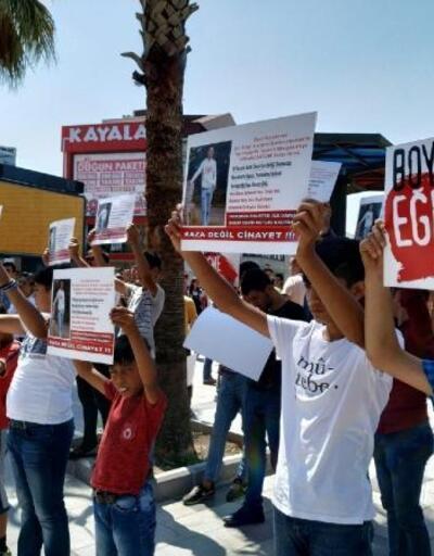 Burak Demir'in TIR'ın altında ezilmesi moto kuryeler tarafından protesto edildi