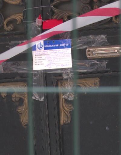 Bağcılar'daki binanın kolonları çatladı