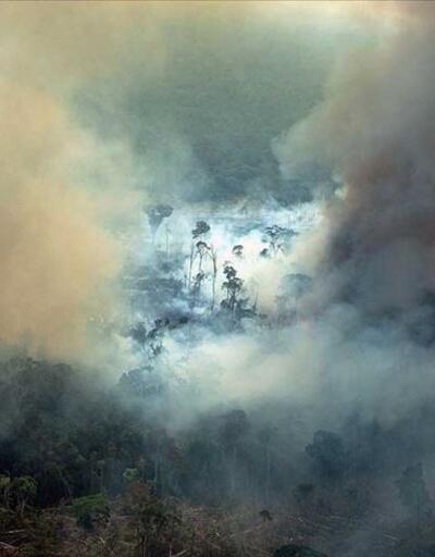 Amazonlar'daki yangınlara savaş uçaklarıyla müdahale ediliyor