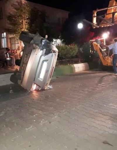 Bayramiç'te iki otomobil çarpıştı: 1 yaralı