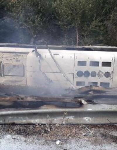 İşçi servis otobüsü, tarlaya devrildi: 47 yaralı