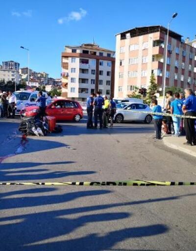 Maltepe'de minibüsün çarptığı motokurye öldü; kaza anı kamerada