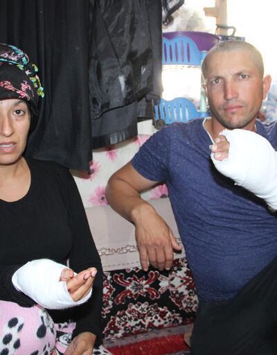 Hamile kadın ve kocasına trafikte saldırı