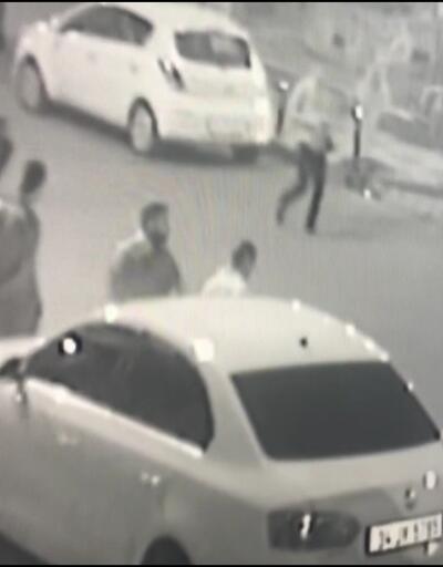 Çatışma anı güvenlik kamerasına yansıdı.