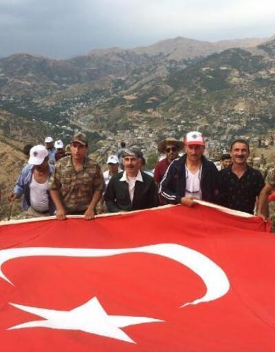 Şemdinli'deki 2071 rakımlı Goman Dağı'na Zafer yürüyüşü