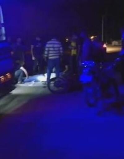 Rögar kapağına çarpan motosikletli yaralandı