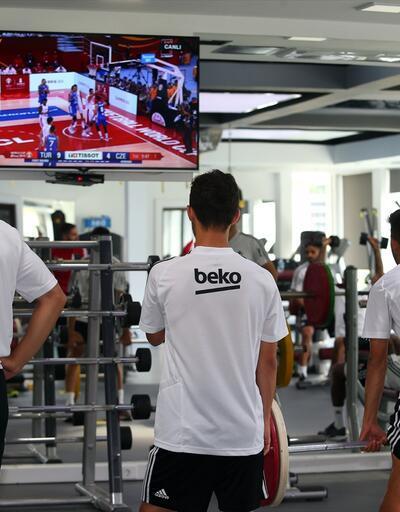 Beşiktaş idmanında 12 Dev Adam heyecanı