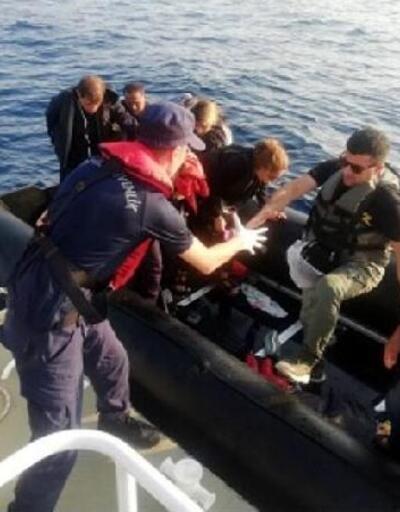 Menderes açıklarında 18 kaçak göçmen yakalandı